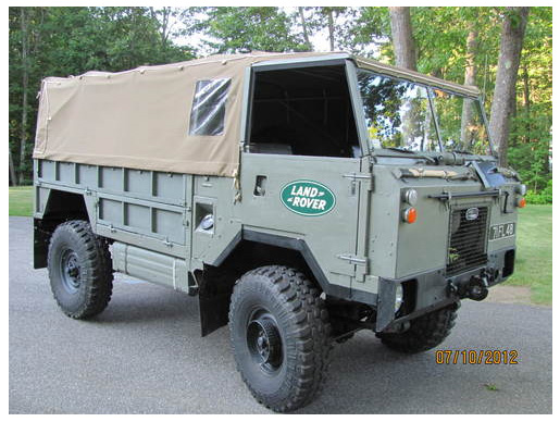 Spotted Land Rover Forward Control West County
