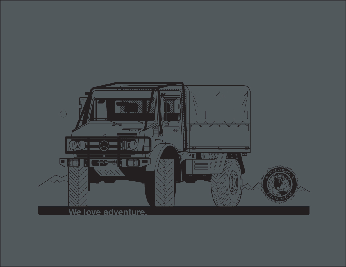 Unimog T-shirt • West County Explorers Club