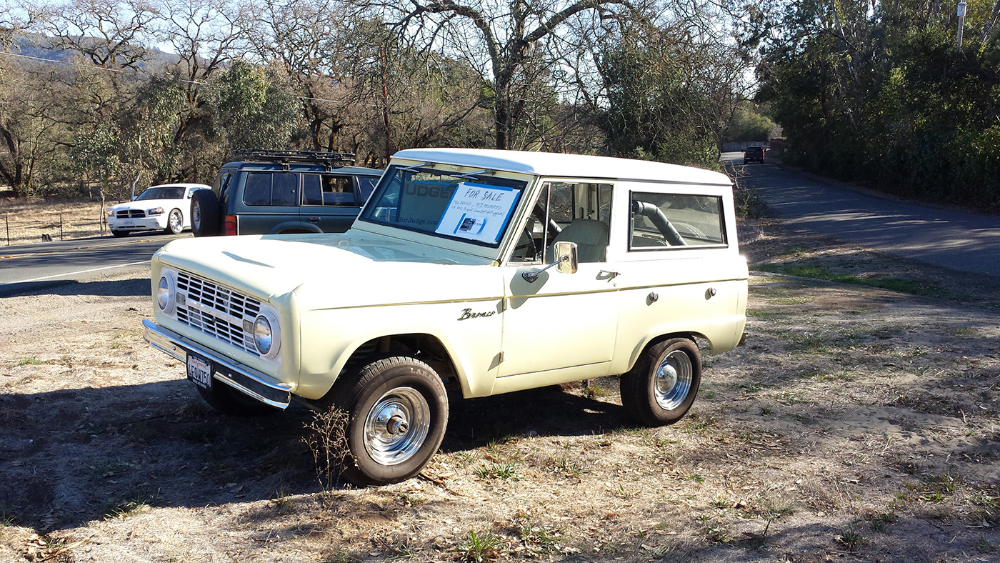 spotted 1966 ford bronco west county explorers club. Black Bedroom Furniture Sets. Home Design Ideas