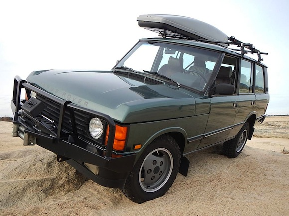 1988-Land-Rover-Range-Rover-Classic-Green-For-Sale-SWB-Front